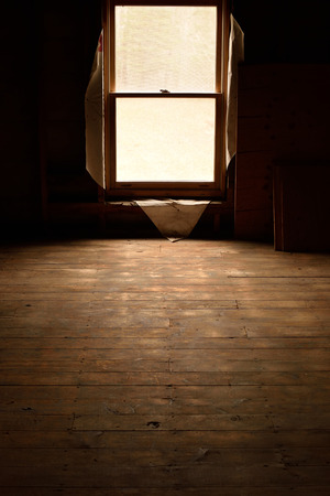 Sunlight Entering Abandoned House Stock Photo