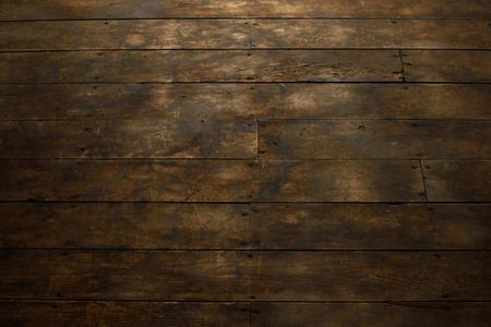 barnwood: Closeup of Worn Wood Plank Flooring Stock Photo