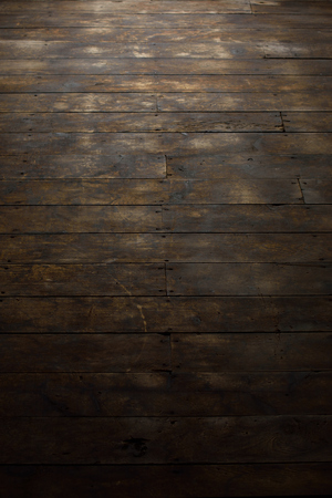 barnwood: Damaged Wood Floor Features Stock Photo