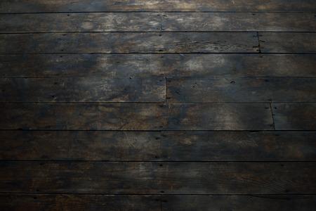 barnwood: Closeup of Damaged Wood Plank Flooring Stock Photo