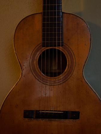 parlor: Vintage Parlor Guitar Detail