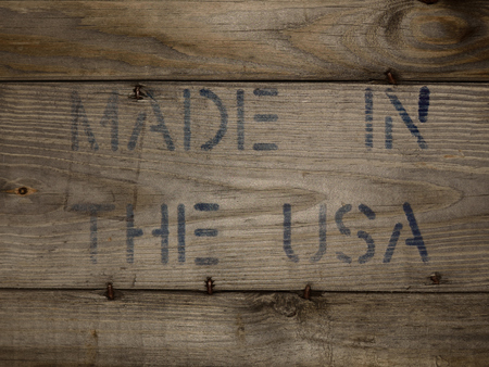 barnwood: MADE IN THE USA Stamped on Wood