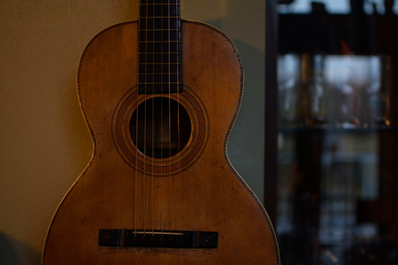 Vintage Parlor Guitar Showing Use