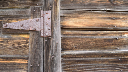 Rusted Strap Hinge on Old Barn Door