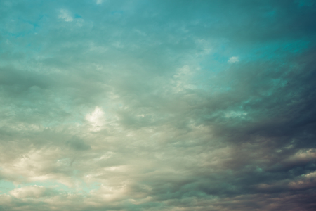 Vintage Look Clouded Sky