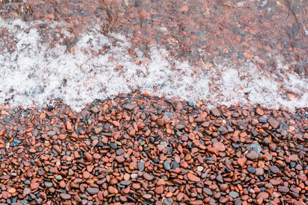 Wave Over Lake Superior Pebbles