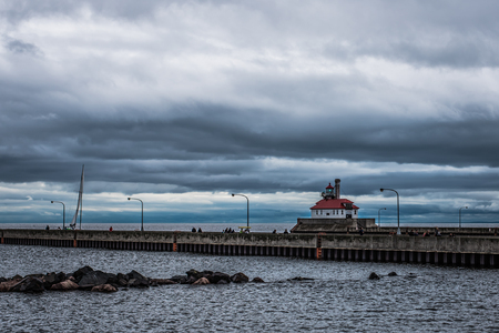 Storm Approaching Duluth Lighthouse