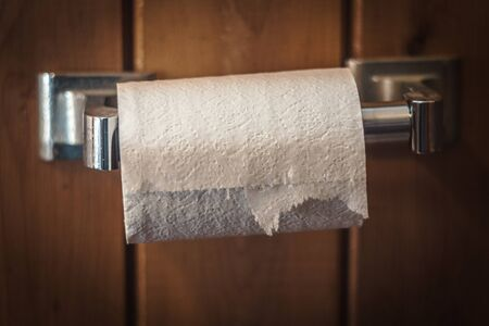 Toilet Paper in Rustic Home