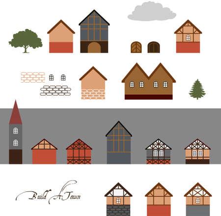 baltic: Vector Town Illustration