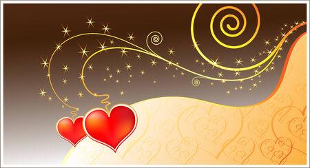 Magic love card. Vector file contains original seamless Vector