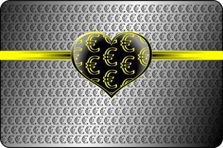 Money love conception. Vector file contains original seamless. Vector