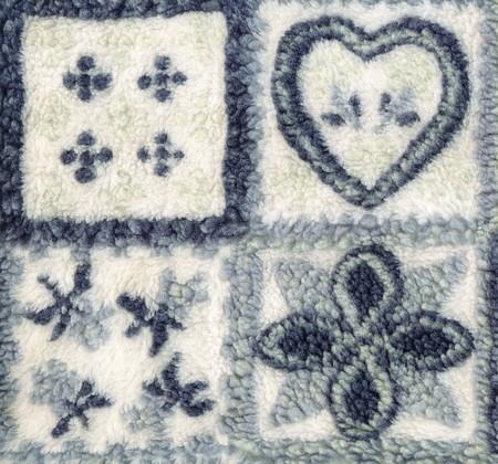 elaboration: Closeup cloth fragment. High degree of detailed elaboration Stock Photo