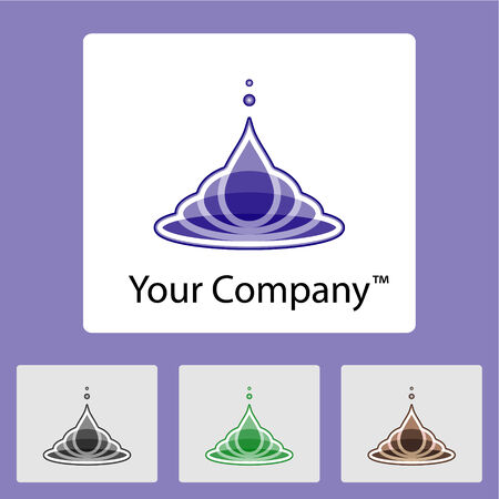 Sample of a trade mark of the company with color variations Vector