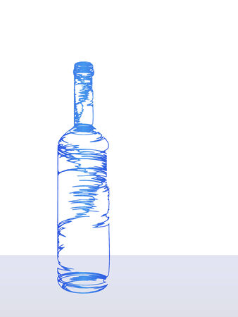 The vector a stylized blue bottle Vector
