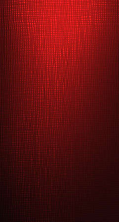matte: The reticulated matte is illuminated from beneath red light
