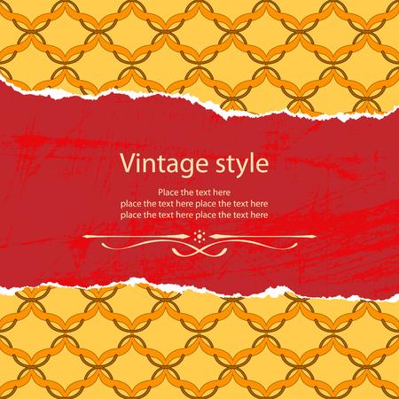 tatter: Vintage plantilla de estilo. Contiene el archivo original sin fisuras Vectores