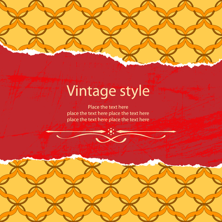 Vintage style template. File contains original seamless Vector