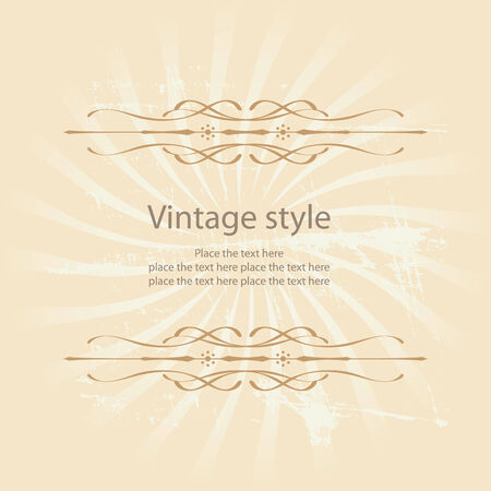 Stylish vector vintage label Vector