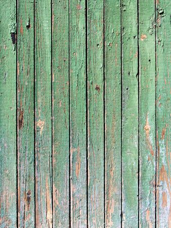 rusty nail: Grungy wooden plank with the cracked paint Stock Photo