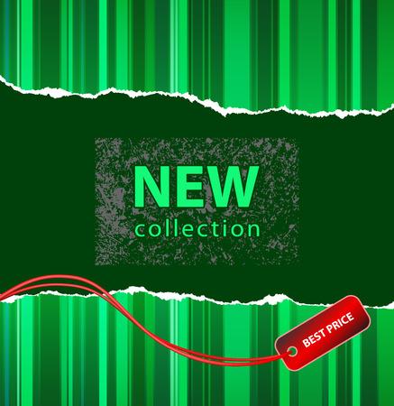 Vector de un estilo de diseño para la nueva colección de moda o acción de marketing