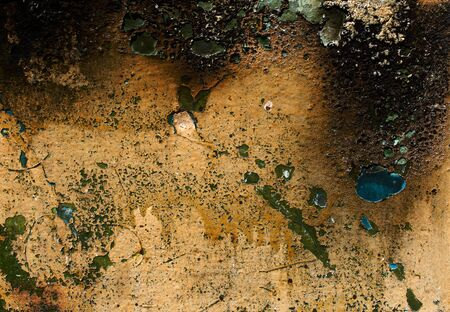 spot the difference: Abstract grunge background from weathered painted, stained, scratched and burned surface of metal Stock Photo