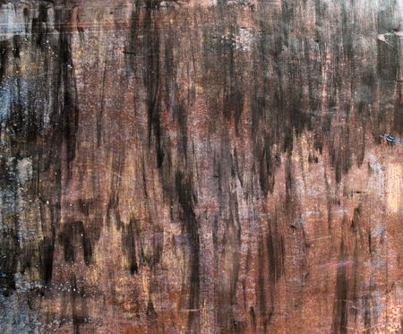 Painted and scratched rusty surface metal Stock Photo - 5219506