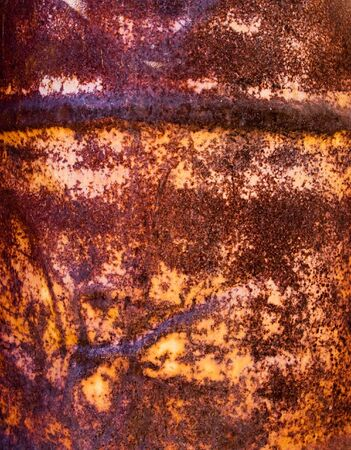 Fragment rusty metal a weathered container Stock Photo - 5219507