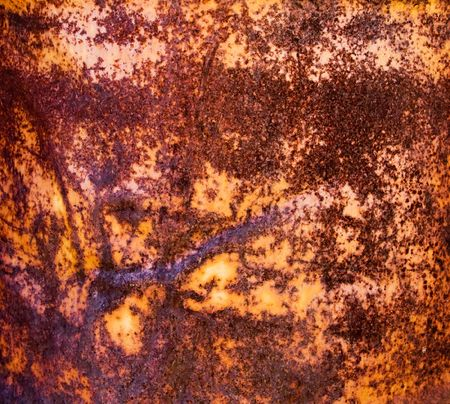 Fragment rusty metal a weathered container Stock Photo - 5219513