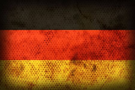 Flag of Germany. Weathered burned material photo