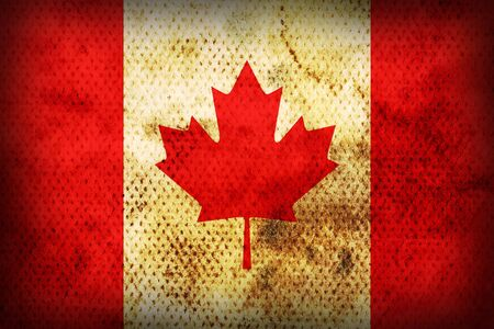 Flag of Canada. Weathered burned material photo