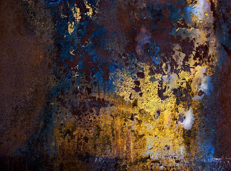Rusty, stained and scratched iron Stock Photo - 5282844