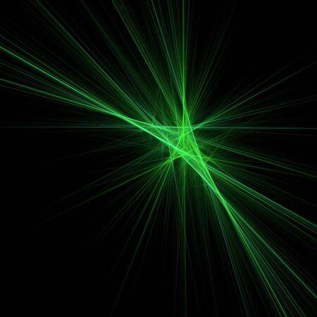 Green beams. 3d digital generated this image photo
