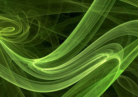 Style background from green curves. Computer digital generated this image photo