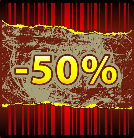 tatter: Template for hot offer from red tattered wallpaper