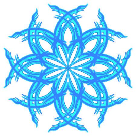 Decorative blue vector snowflake Vector
