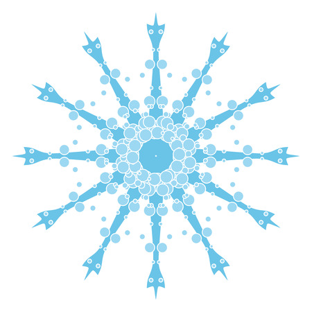 Decorative blue vector snowflake Vector