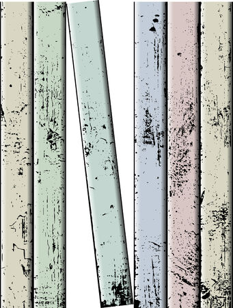 Vector weathered painted color wooden plank Vector
