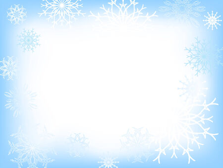 Vector christmas background from different decorative snowflakes Vector