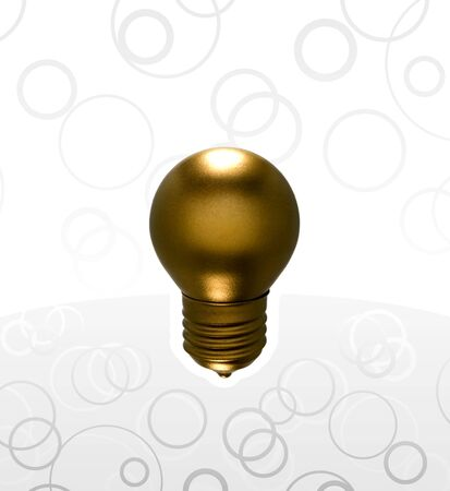 Golden bulb on a grayscale background Stock Photo - 5722184