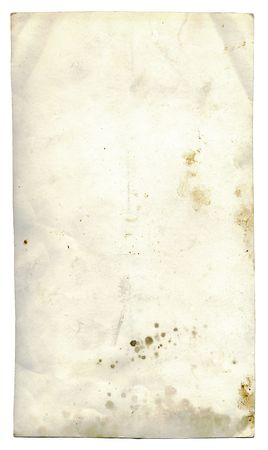 Isolated old dirty stained a paper photo card photo