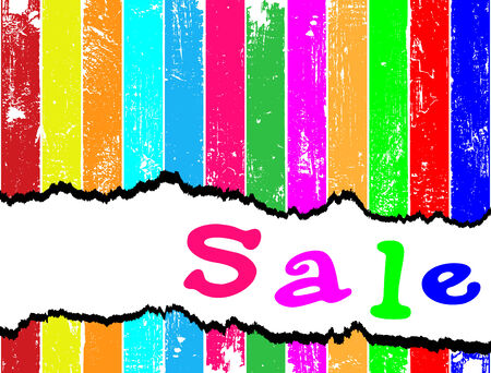 tatter: Merry sales template. Tag sale on a multicolored plank