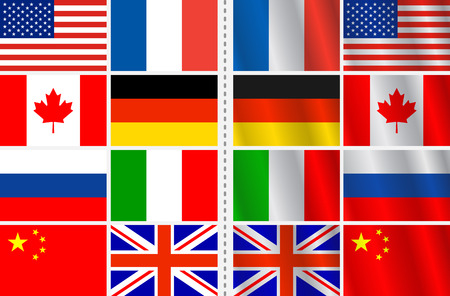 set of flags with a variation Stock Vector - 6031046