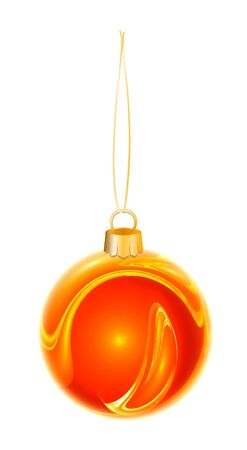 luminosity: Luminosity xmas red ball. Isolated from background Stock Photo