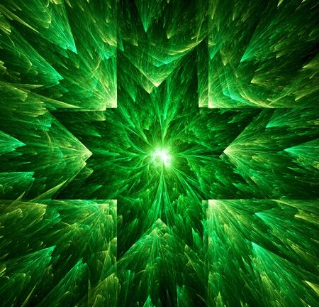 Green star abstract background. Digital generated this image photo