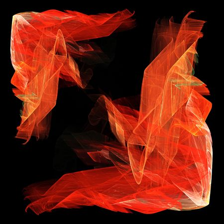 Abstract framework of a flame. Digital generated this image photo