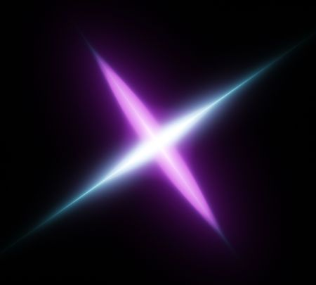 Light cosmic crossing substance. Digital generated this image photo