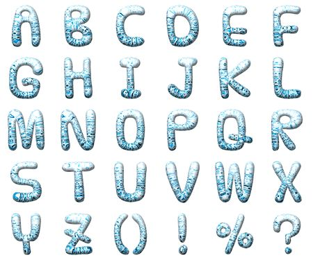uppercase: Set waterdrop letter alphabet. Isolated from background