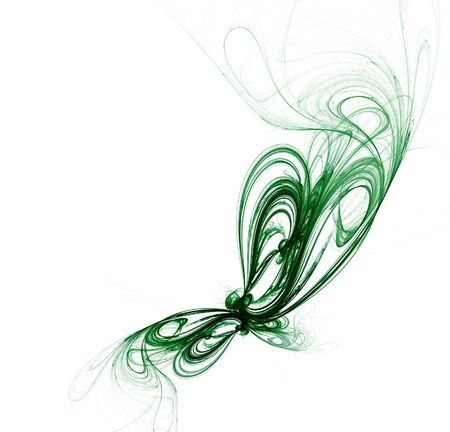 buterfly: Abstract fractal background on white. Digital generated this image Stock Photo