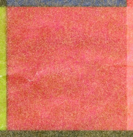 imposed: Color textured square. Transparent paper imposed against each other and cellophane