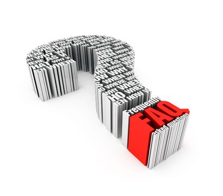 3D metaphor - Frequently asked question Stock Photo - 6557055
